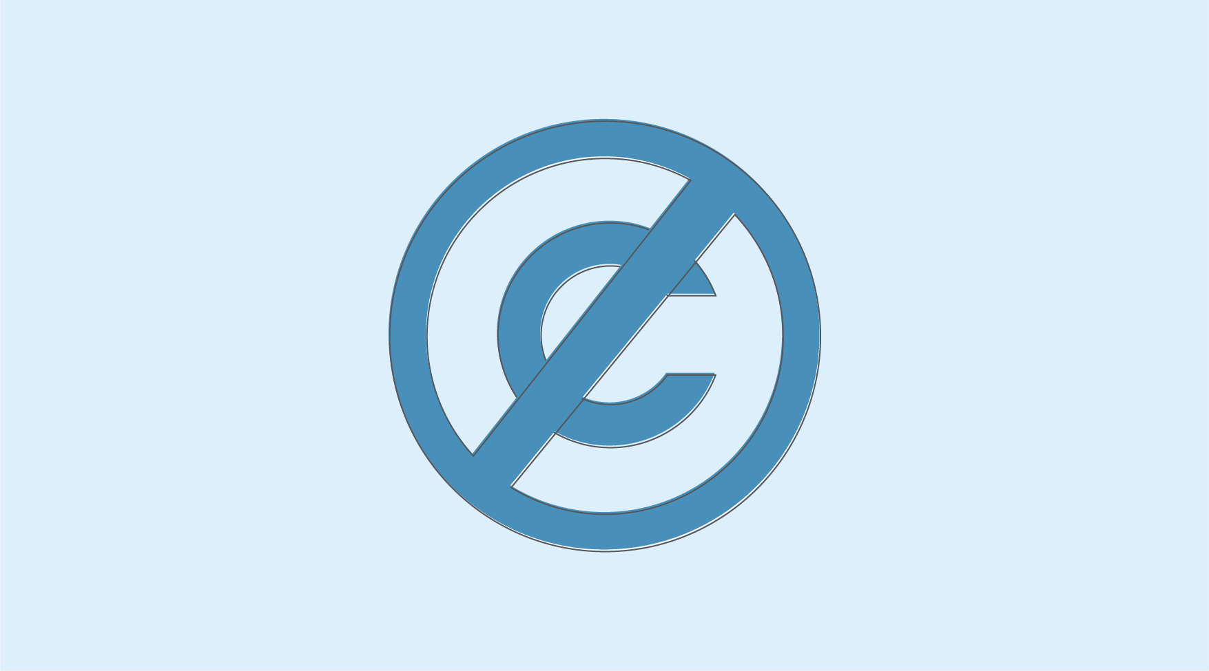 An image of the Creative Commons Public Domain badge symbol.